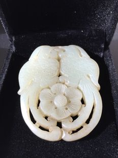 Jade pendant carving of two Phoenix-China- Early 20th century