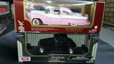 Motor-Max / Road Legends - Scale 1/18 - Ford Five window coupe & Ford Fairline Crown Victoria