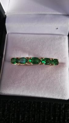 Rare AAA Tsavorite Garnet 9ct Gold Ring