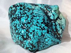Nugget of blue/green/brownish grey Turquoise - 10 x 8 x 8 cm - 434 g