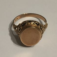 Old solid gold signet ring