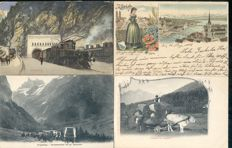 Switzerland 172 x; old and very old village and city views
