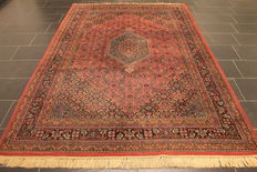 Oriental carpet, Indo Bidjar Herati, 180 x 275 cm, made in India at the end of the last century