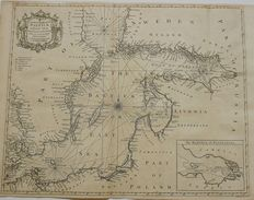 Scandinavia, Baltics; Richard William Seale - A Correct Chart of the Baltick or East Sea from ye Sound to Petersburg From the latest and best Observations - ca. 1747