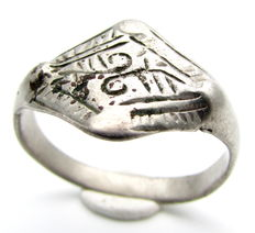 Viking Silver Ring with Runic Symbol - 19mm