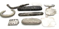 Rare Lot of 10 Viking Silver Hack Silver Bars and Artifacts - 15 - 50 mm (10)