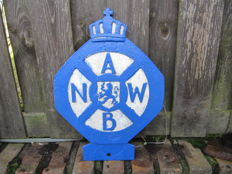 Old unique large ANWB ornament from the 1950s - 36 x 26 cm.