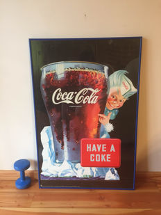Big rarity XL COCA COLA collector Poster special order by Nuova from ITALY-Milano - 1990's