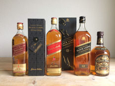 5 bottles : 4x Johnnie Walker & 1x Chivas Regal