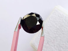 Fancy Black Diamond - Brilliant Cut - 4.95 ct - without reserve price