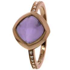 Saddal - 'Dolce Purple Amethyst' women's ring with diamond and amethyst