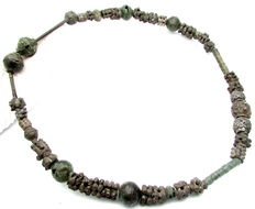 Viking Bronze Beads Necklace / Neck Torc - 180 mm