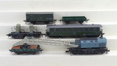 "Fleischmann H0 - 5597/1417m - Crane carriage set ""Krupp Ardelt"" of the DB with personnel carriage"