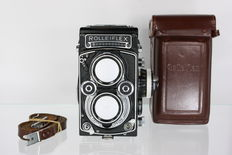 Rolleiflex 3.5F with leather Rolleiflex case and strap