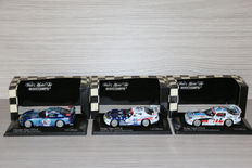 Minichamps - Scale 1/43 - Lot with: Dodge Viper GTS-R 24h Daytona 2002, Chrysler viper GTS- R 24h Le Mans 2002 and Dodge Viper GTS-R, 24h Daytona 2002