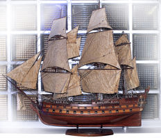 "Superb model of naval ship ""The Protector"""