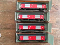 Roco N -  4x closed freight carriages PTT Post of the NS