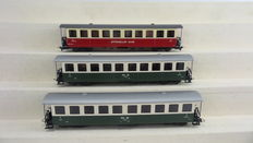 STL-Models H0m - 2201/10/2201/S1 - 3 passengers carriages of the RhB / Appenzeller Bahn