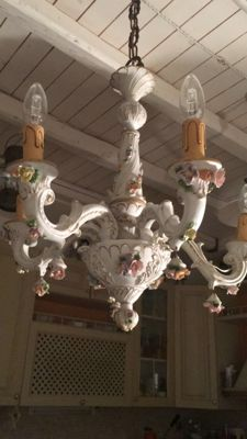5-lights Capodimonte Chandelier