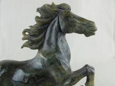 Labradorite horse - China - ca. 1970