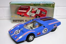 Joustra, France - Length 31 cm - Tin / plastic Ferrari 512 S with battery motor, 1970s