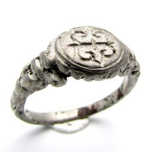 Crusaders Silver Ring with Monogram engraved on Bezel - 20 mm