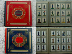 "1 ""Uniformen der Alten Armee"" (Uniforms of the Old Army) Collectible picture album (complete) - 1932 + ""Uniformen der Marine und Schutztruppen"" (Uniforms of the Navy and defense forces), collectible picture album (complete) - 1933"