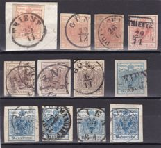Austria 1850/67 - Ordinary and newspaper stamps -  a selection