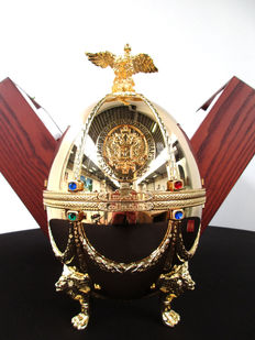 Imperial Collection Vodka - Faberge Egg - Gold Plated