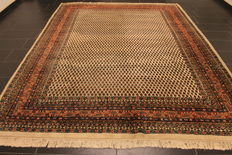 Magnificent hand-woven oriental palace carpet, Sarough Mir, 260 x 320 cm, made in India, excellent highland wool around 1990