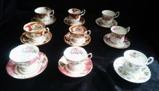 Royal Albert - 9 cups and saucers