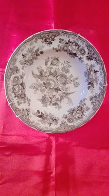 beautiful ornamental plate signed peter mattel & brothers - cardiff