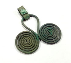 Celtic silver pendant spiral - 61x50 mm