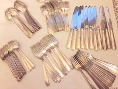 86 piece silverware set - silver plated metal