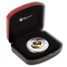Australia - Lunar II year of the rooster - year of the rooster - 999 silver proof - in colour with COA + box with certificate