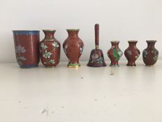 Cloisonné vases – China – second half of the 20th century