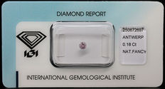 0.18 ct Fancy Pink Diamond IGI certified