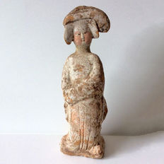 Chinese pottery Fat Lady - with TL report - H. 32 cm.