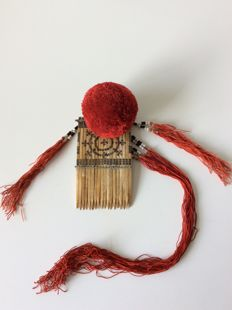 Chinese Yao ethnic minority hair ornament - mid 20th century