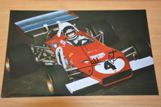 Jacky Ickx - 20 x 30 cm signed photo in frame