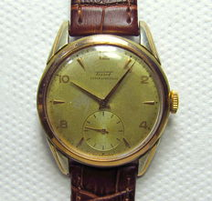Tissot 27-B Manual Winding Men's Watch Gold Plated Case-Vintage 1950's