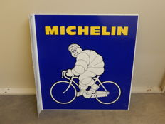 Michelin - Bibendum - Original Aluminium Garage Sign - Size 48 cm x 45 cm - with 5.5cm Flange for Wall Mounting