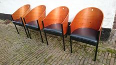 Philippe Starck for Aleph, four Costes chairs
