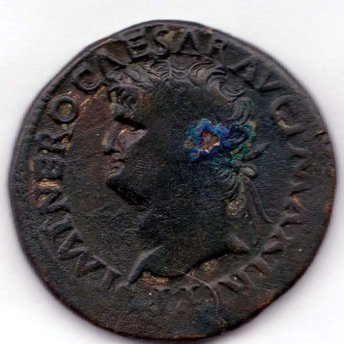 Roman Empire - AE dupondius of Emperor Nero, 54-68 AD, with Securitas.