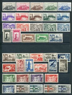 Fezzan & Ghadamès - 1946/50 - Lot of ordinary mail, air mail and postage due - Sassone n.  1/28 + A1/2 + Stax. 1/6 + 41/48 + A5/6