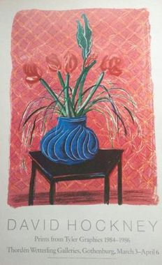 David Hockney - Amaryllis in Vase