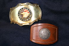 Harley Davidson + Levi Strauss - 2 authentic buckles.