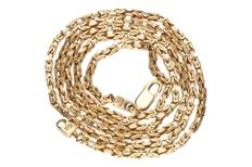 Yellow gold, king's braid link necklace of 14 kt - 60 cm.