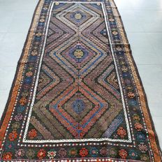 SPECIAL: Unique Turkmen rug – 265 x 126 – Special colour scheme and super appearance