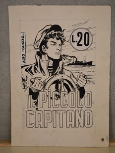 "Pini, Segna - original logo ""Il Piccolo Capitano"" with coloured back (1950s)"